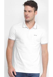 31af40f12c Camisa Polo Calvin Klein Listra Dupla Masculina - Masculino