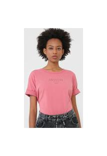 Camiseta Colcci Compartilhe Propósito Rosa
