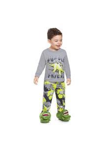 Pijama Infantil Brandili Malha Amigos Da Selva