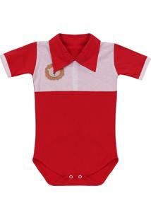 Body Padroeira Baby Leaozinho Vermelho