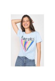 Camiseta Planet Girls Colors Azul