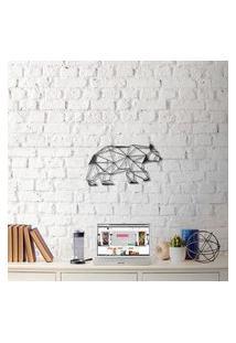 Escultura De Parede A Laser Urso Único