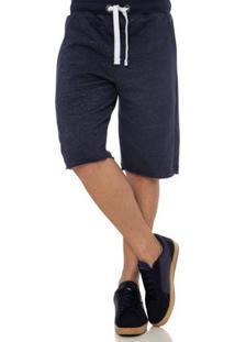 Bermuda Moletom Masculina Azul Marinho