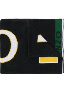 Kenzo Cachecol Com Logo - Preto