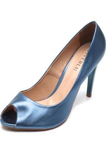 Peep Toe Fiveblu Salto Fino Azul