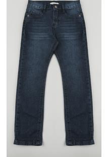 Calça Jeans Infantil Reta Azul Escuro