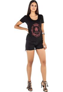 T-Shirt Camiseta Feminina Latifundio Queen Bee Preto