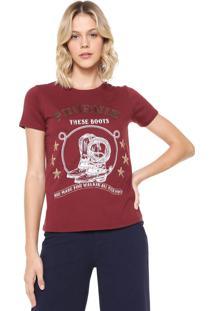 Camiseta Lez A Lez Estampada Vinho