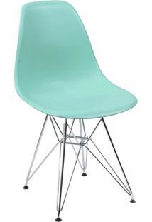 Cadeira Eames Dkr- Verde Água & Prateada- 80,5X46X42Or Design