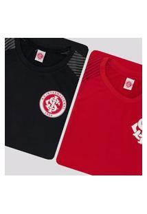 Kit De 2 Camisas Internacional Winner Vermelha E Preta