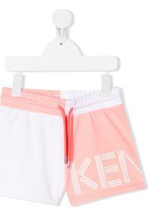 Kenzo Kids Colour-Block Track Shorts - Rosa