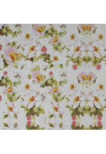 Papel Parede Flores Brancas 2,50 X 0,60 - Branco - Dafiti