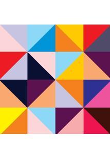 Papel De Parede Adesivo Mosaico Colorido (0,58M X 2,50M)