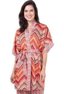 Robe Cetim Homewear Estampado | 589.0722