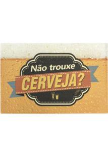 """Capacho """"Nã£O Trouxe Cerveja?""""- Amarelo & Preto- 60X4Kapazi"""