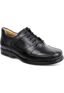 Sapato Social Masculino Conforto Sandro Moscoloni New Joe Preto - Masculino-Preto