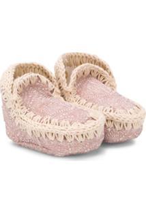 Mou Kids Sapato Esquimó Para Bebês - Rosa
