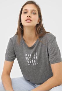 Camiseta Colcci Stay In Motion Grafite