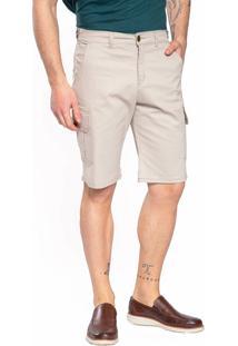 Bermuda Sarja Aero Jeans Bege - Kanui
