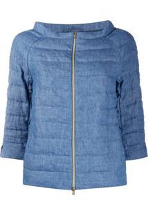 Herno 3/4 Sleeves Padded Jacket - Azul
