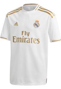 Camisa Infantil Adidas Real Madrid I Branco/Dourado - Pp