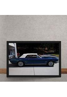 Quadro Decorativo Carro Conversivel Classico Verdao 25X35