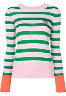 Kenzo Blusa De Moletom Listrada Com Logo - Green d02ac4d10ec
