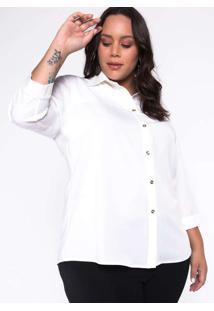 Camisa Almaria Plus Size Garage Lisa Branco