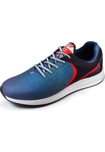 Tênis East Sports London Masculino - Masculino-Azul+Preto