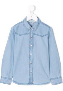 Stella Mccartney Kids Camisa Jeans - Azul