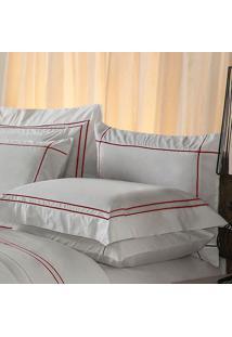 Fronha Harmonious Red Algodão Branca 50X90