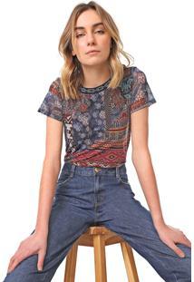 Camiseta Desigual Tule Lucia Azul/Rosa