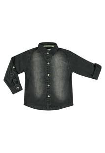 Camisa Look Jeans Clássica Jeans Azul