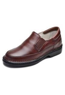 Sapato Em Couro Terapia Confort Masculino Dia Dia Descanso Café