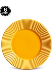 Conjunto 6Pçs Pratos De Sobremesa Porto Brasil Argos Amarelo