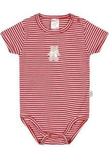 Body Bebê Menina Ribana - Feminino-Vermelho