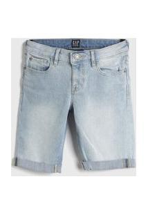 Bermuda Jeans Gap Infantil Lisa Azul