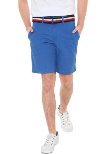 Bermuda Sarja Tommy Hilfiger Chino Brooklyn Azul
