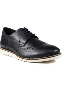 Sapato Masculino Social Preto Zariff Em Couro