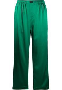 Balenciaga Calça De Pijama - Verde