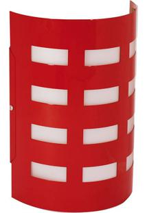 Arandela Td42 Alumínio 1Xe27 Vermelho - Taschibra - Taschibra