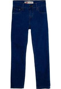 Calça Jeans Levis 510 Skinny Infantil - 20002 - Masculino-Azul Escuro