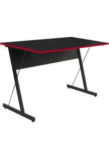 Mesa Para Computador Notebook Gamer Zetta Preto/Vermelho - Fit Mobel
