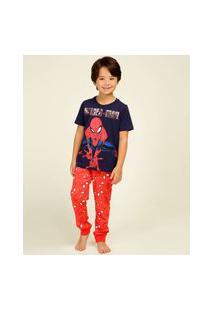 Pijama Infantil Homem Aranha Marvel Tam 4 A 12