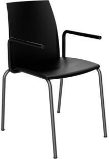 Cadeira Loft Com Braço Preta