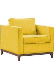 Poltrona Decorativa Aspen Suede Amarelo - D'Monegatto