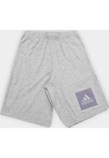 Bermuda Adidas Knit Masculina - Masculino-Mescla