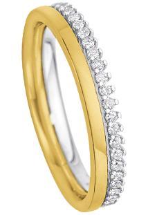 Aliança Noiva Ouro Amarelo E Ouro Branco E Diamantes Essence
