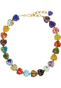 Brinker & Eliza Gold Tone Higher Love Necklace - Dourado