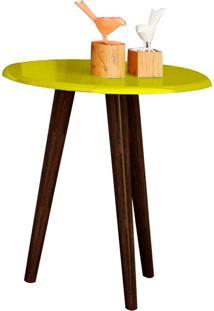 Mesa Lateral Brilhante - Bechara - Amarelo